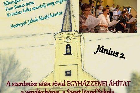 Mogyoródi Falka József kórus szentmise szolgálata