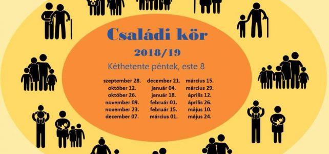 Családi kör – 2018/2019 évad